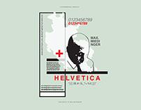 Helvetica/Miedinger Poster
