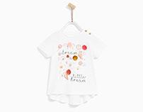 ZARA KIDS - Baby Girl - Birds T-shirt