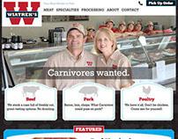 Wiatrek's Meat Market - web design and development
