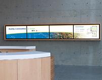 Digital Signage/Wayfinding esri Lobby