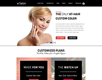 E Salon Web Page Design