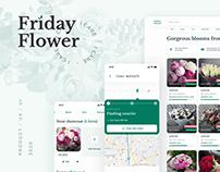 FridayFlower Product/UX/UI Design (Website, Mobile App)