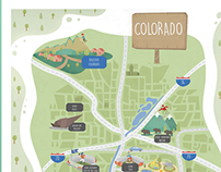Illustrated Colorado Map