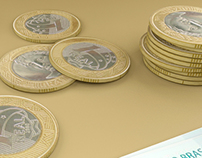Brazilian money realistic 3D