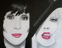 Acrylic paintings of celebrity portraits