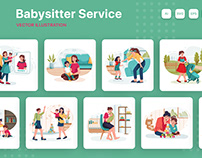 M147_Babysitter Service Illustration