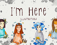 I'M HERE project. Illustrations