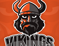 Vikings Basketball Logo