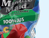 Minute made illustrative stylized crushed can
