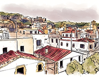 Tossa De Mar Roofs, Catalunya