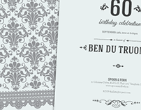 60th birthday invitation | Ben du Truong