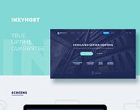 Landing Page InxyHost, Dedicated Server Hosting
