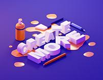3D Lettering in Blender