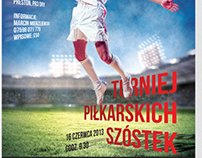Posters for football tournament - Polish Masters League