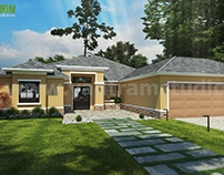 Small House Design Ideas Front Exterior Rendering