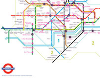 Tube Map by step count ...