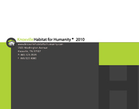 Habitat for Humanity 4-panel Brochure