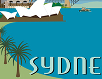 Retro Travel Style Prints - Sydney