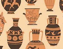 Greek Pottery pattern