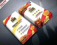Food Restaurant Business Card PSD