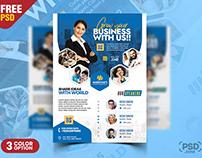 Modern Business Event Seminar Flyer PSD