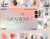 Gradient Aesthetic Instagram Posts & Stories Templates