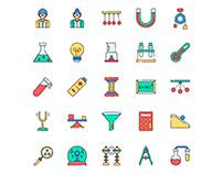 Physicist Icons Set