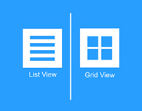 List View and Grid View for eCommerce App