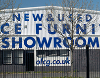 Exterior sign for Office Furniture Centre, Glasgow