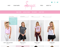 Web Design Layout for Clothing Brand