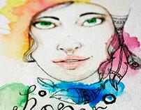 Hope . Watercolor paint