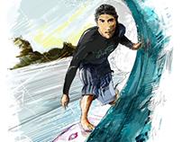 Surfer Felipe Martins