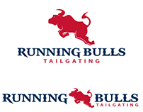 Running Bulls Tailgating Logo Design