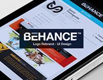 Behance Rebrand - UI Design