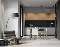 Kitchen-living room in the Residence of Architects