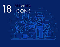 18 services icons