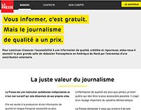 La Presse / Pour une presse forte