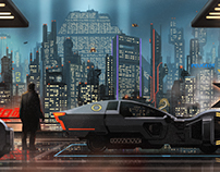 Blade Runner personal illustration.