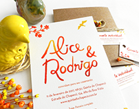 Convite Alice & Rodrigo | Wedding Invitation