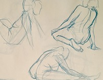 Quick Gesture Figure Sketches