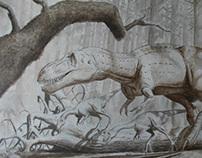 Evolution of a Dinosaur Painting
