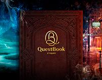 QuestBook - event студия Логотип, копирайт, landing