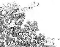 The joy of the Lord | Zeichnung, Typografie