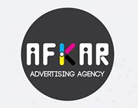 LOGO : AFKAR  ADVERTISING AGENCY