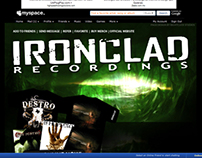 Ironclad Recordings Myspace Design