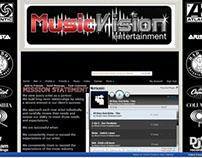 Music Vision Myspace Design