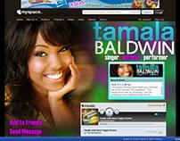 Tamala Baldwin Myspace Design