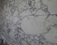 Arabescato Marmor Küchen-Wand