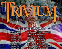 Trivium Flyer UK Crusade World Tour