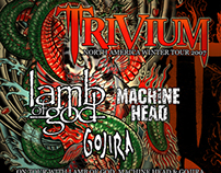 Trivium Flyer for North American Tour